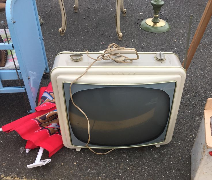This retro television was for sale at the Columbus Flea Market in Columbus, NJ.