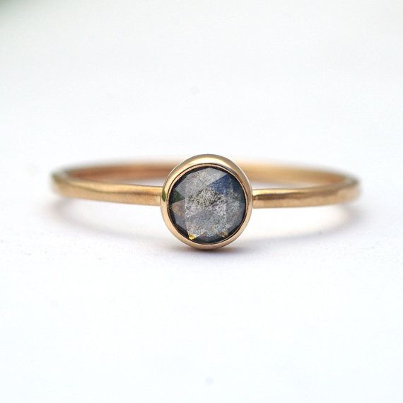 Gray Diamond Ring | 12 Alternative Engagement Rings Under $1000 on The Etsy Blog.