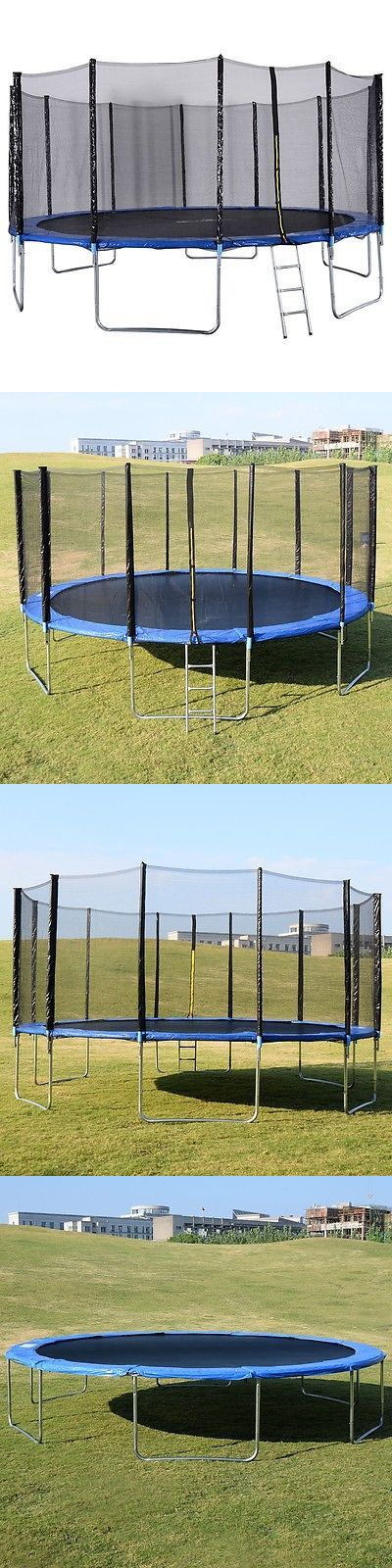 Trampolines 57275: Safety Trampoline 16Ft Combo Bounce Jump Enclosure Net W/Spring Pad Ladder BUY IT NOW ONLY: $435.83