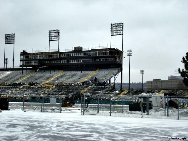 Goodbye Ivor Wynne Stadium. Photo by Freda Mans. #IvorWynneStadium #Demolition #Hamilton #Ontario #Canada #CFL #HamiltonTigerCats #Football