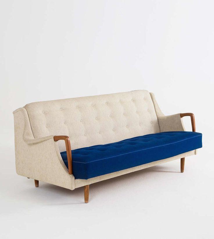 Anonymous; Teak Sleeper Sofa, 1960s.