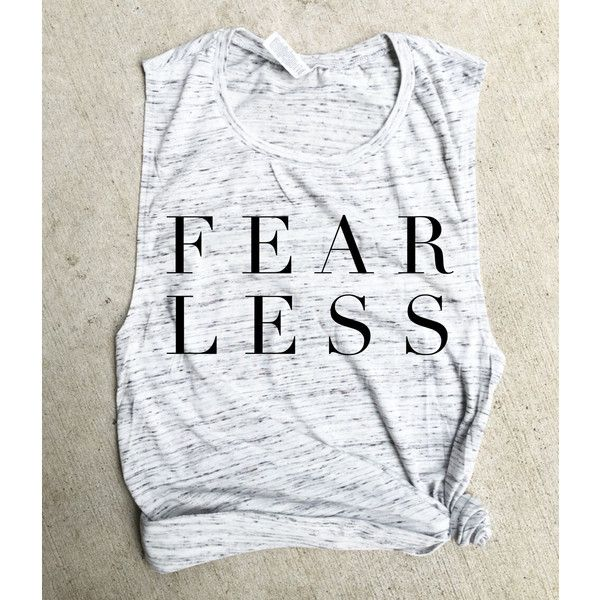 Fearless Muscle Tee Fit Mom Funny Crossfit Workout Tank Beachbody Gym... ($22) ❤ liked on Polyvore featuring activewear, activewear tops, silver, tanks, tops, women's clothing, drape shirt, double layer shirt, layering shirts and workout shirts