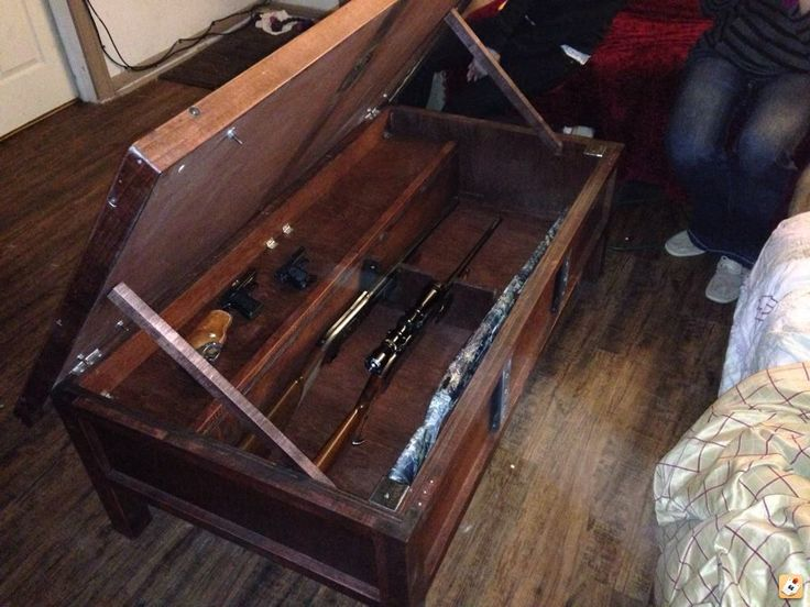 Hidden Gun Cabinet Coffee Table Plans Woodworking