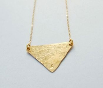 Tri Love Initial Necklace