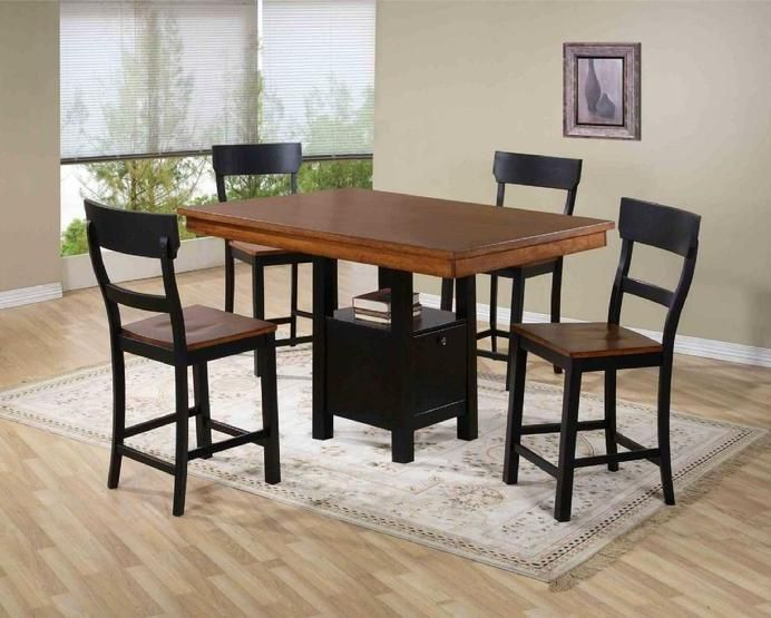 Fritz Black And Pub Table Set This Is Constructed Of Durable Hardwood Base Features Storage Cabinet Stools Are Solid Wood With