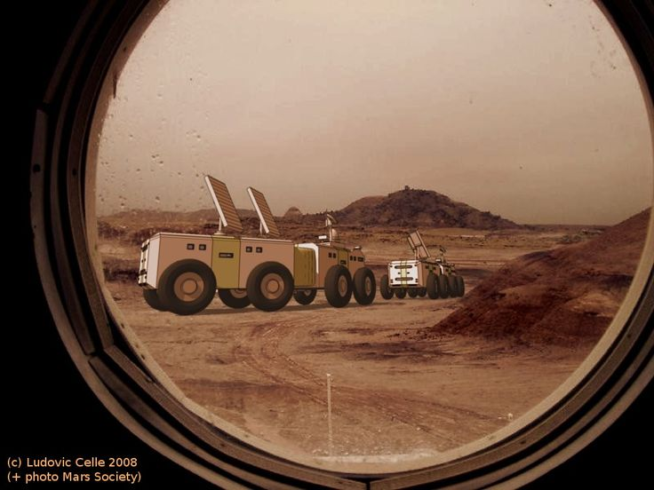Mars rovers leaving the base by Ludo38.deviantart.com ...