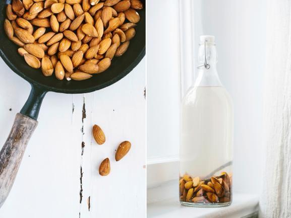 mandel milch ist schnell selbstgemacht und schmeckt dazu um einiges besser als die. Black Bedroom Furniture Sets. Home Design Ideas