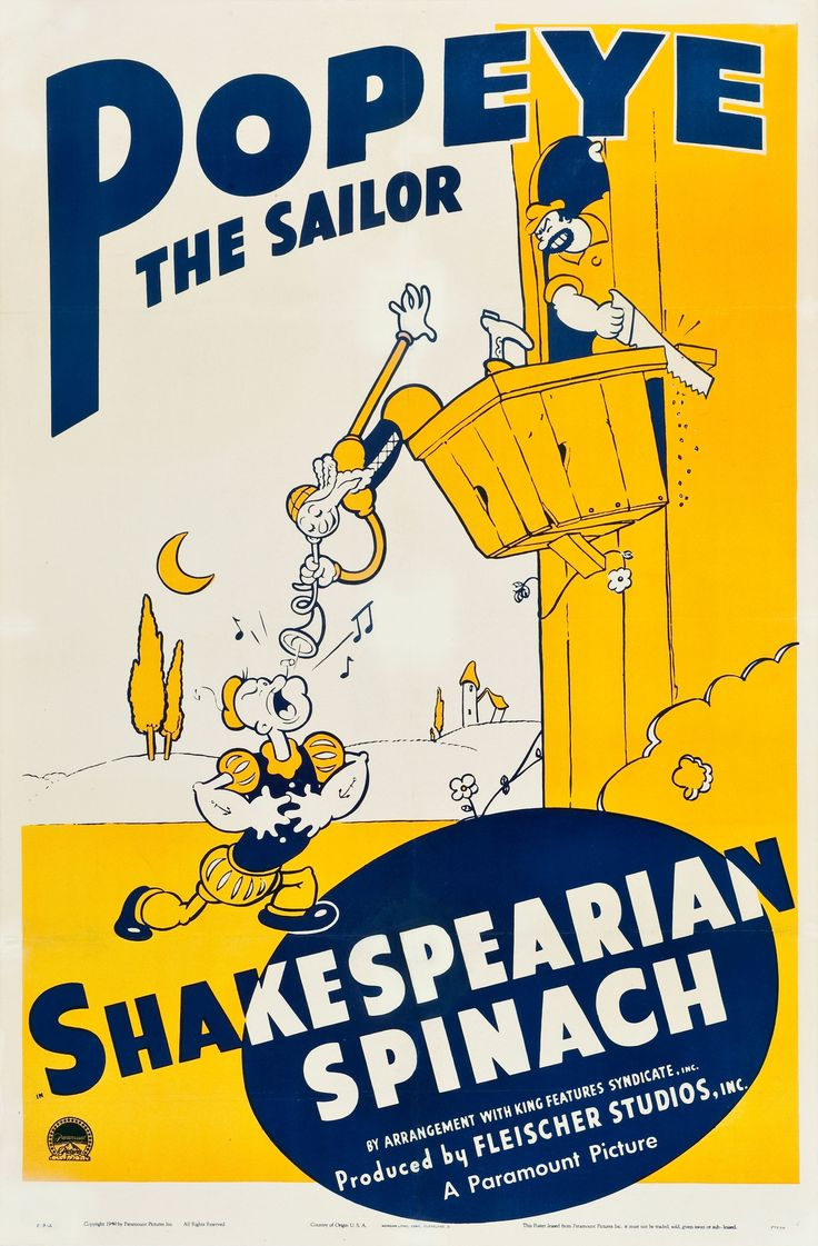 Poster design 1940 - Popeye The Sailor