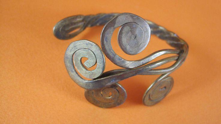 $32. Estate 1920's Art Nouveau Brass Armband With Curling Tendrils, Nest & Company, #Shopnestandcompany by shopnestandcompany on Etsy