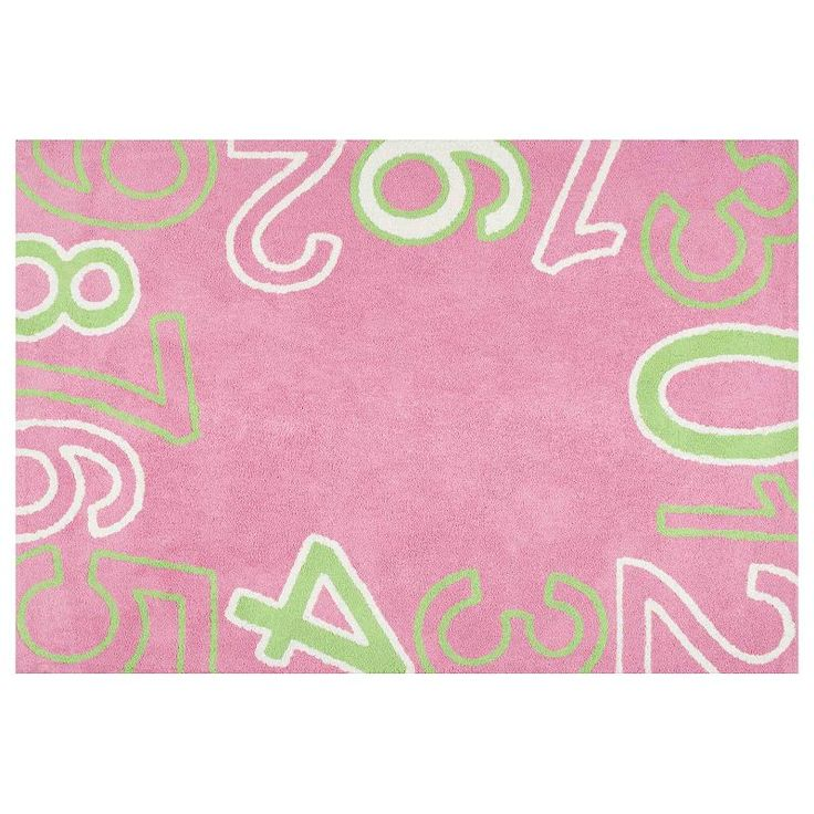 nuLOOM Curiosity Floating Numbers Rug, Pink