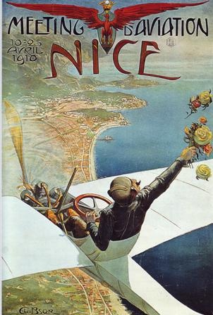 """I am guessing this pilot is female although the date of 1910 seems a tad early but...to be flying with the top """"down"""" over France is a delightful thought over 100 years later!"""