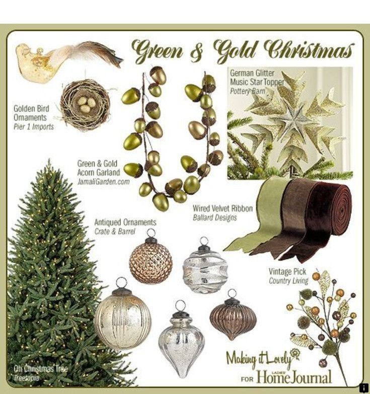 Check Out The Link For More Information Green Tree Metals Please Click Here To Ge Gold Christmas Decorations Christmas Tree Colour Scheme Metallic Christmas