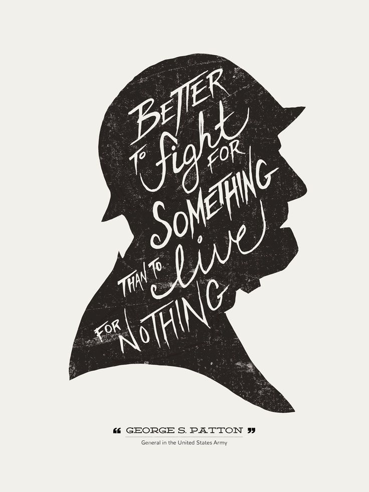 Better to fight for something than to live for nothing. well said.