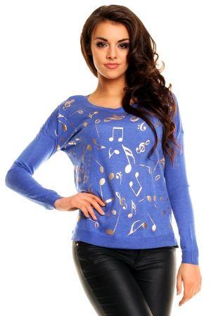 Sweterek 8229 NUTKI niebieska