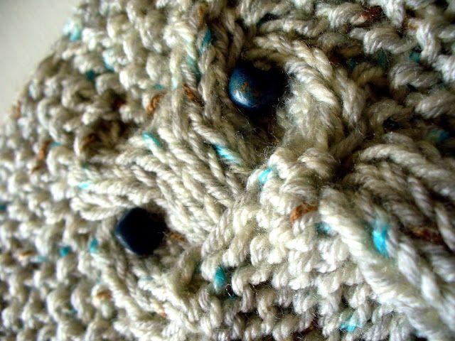 pletená sovičková čepice