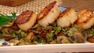 Scallops, Mushrooms, and Scallions (Capesante Salate al Funghi)   Lidia Bastianich