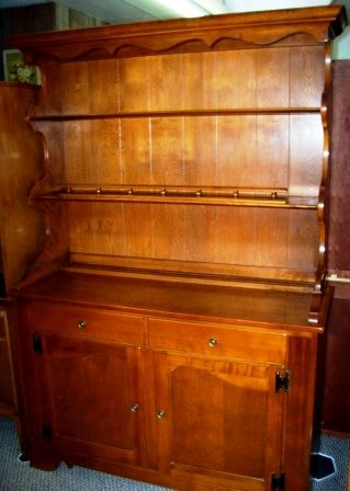 Beautiful Hutch China Cabinet Open Solid Cherry Wood Made By Ethan Allen Antique HutchDining Room