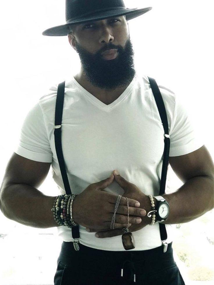 Black, Bearded and Beautiful http://www.99wtf.net/men/style-medium-length-hairstyles-men/
