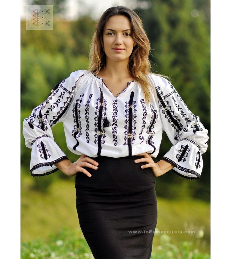 ia de Sibiu - ie Sibiu - camasa Sibiu - costume populare romanesti