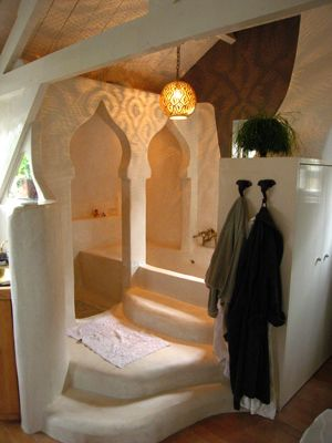 Love the endless options for constructing cob home interiors!
