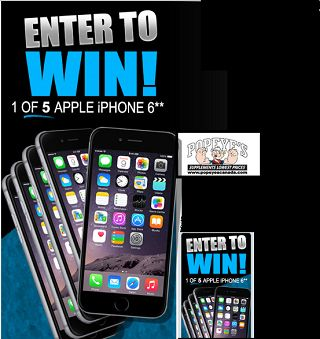 Popeye Canada iPhone contest win 1 of 5 iPhone 6