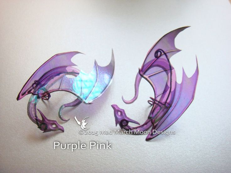 Dragon Ear Cuffs 5 Colours Available non pierced by MadMarchMoon