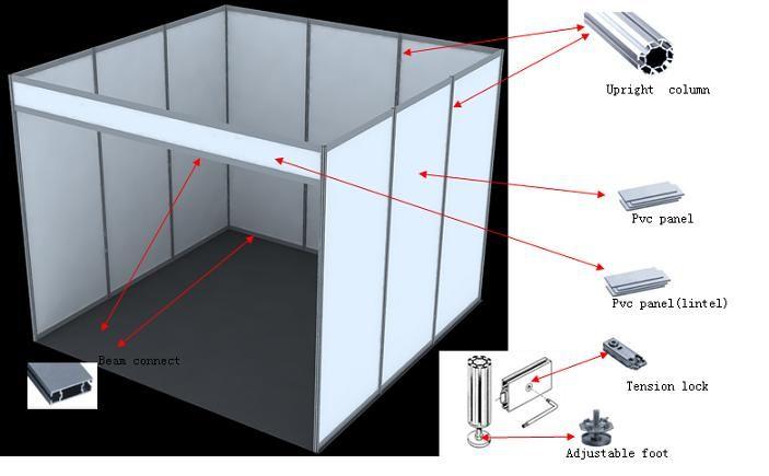 spesifikasi : Quantity komponen : partisi pameran - tinggi post (tiang) 2,5 m - standard : beam lebar 50 mm dan silinder post 40 mm. Hub. 081290627627 atau 089646793777