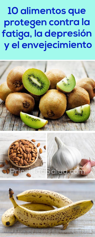 10 alimentos que protegen contra la fatiga, la depresión y el envejecimiento