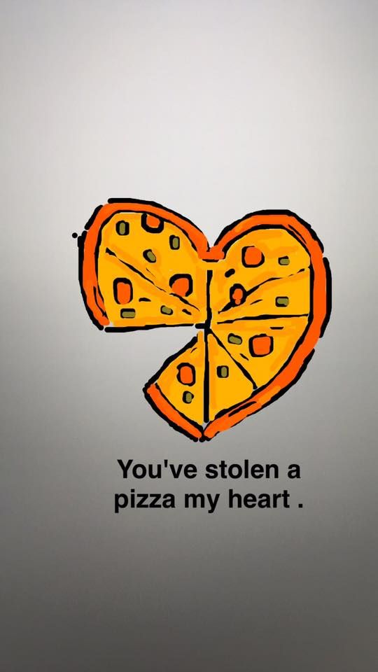 Pizza Love Snap Art Quote