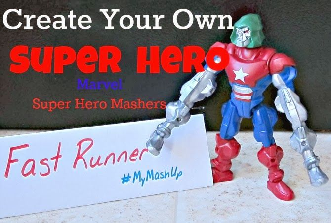 Sponsored: Create Your Own superheroes with Marvel Mashers!  Lots of fun!  #MyMashUp