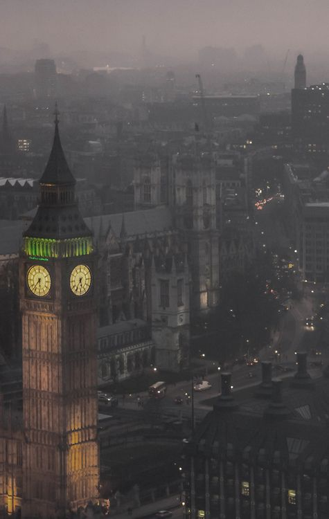 Foggy London Night