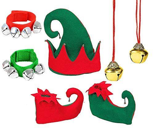 Childrens Novelty Christmas Elf Slippers