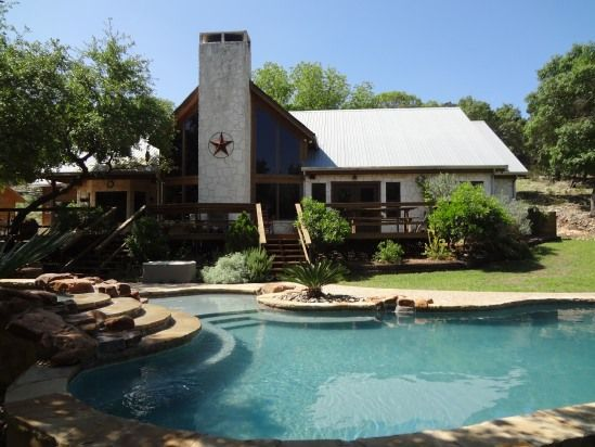 Family escape in the hill country canyon lake home for Texas hill country cabin rentals