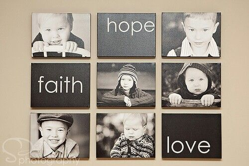 Love this! Another idea for canvas' over your bed!