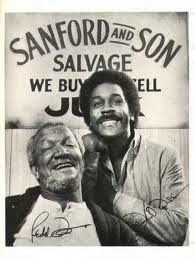 Sanford and Son. One of my favorite TV shows of all time. I even have a t-shirt of it that I get great comments on when I wear it. :-)Remember, Favorite Tv,  Dust Jackets, Sanford And Sons, Big Dummies,  Dust Covers, Book Jackets, Classic,  Dust Wrappers