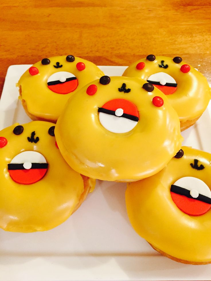Pikachu Donuts by Dreamy Donuts and Mandy Moo Cakes