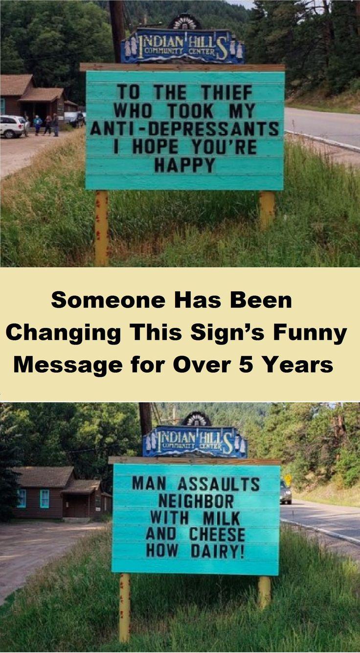 Jemand ändert seit über 5 Jahren die lustige Botschaft dieses Zeichens #animalme …   – Stuff for My Head
