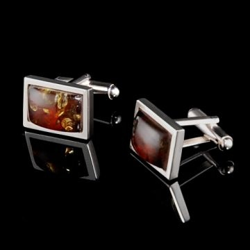 Cufflinks with Amber!