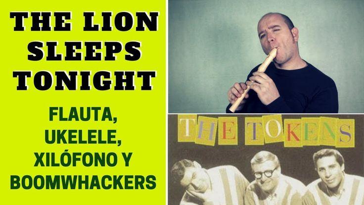 """""""The Lion Sleeps Tonight"""" de The Tokens con flauta dulce y ukelele (incluye notas y acordes)"""