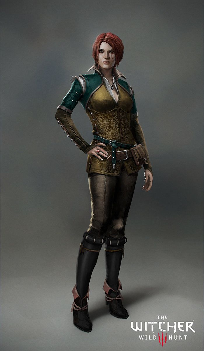 The Witcher 3: Triss Merigold, Marek Madej on ArtStation at https://www.artstation.com/artwork/the-witcher-3-triss-merigold