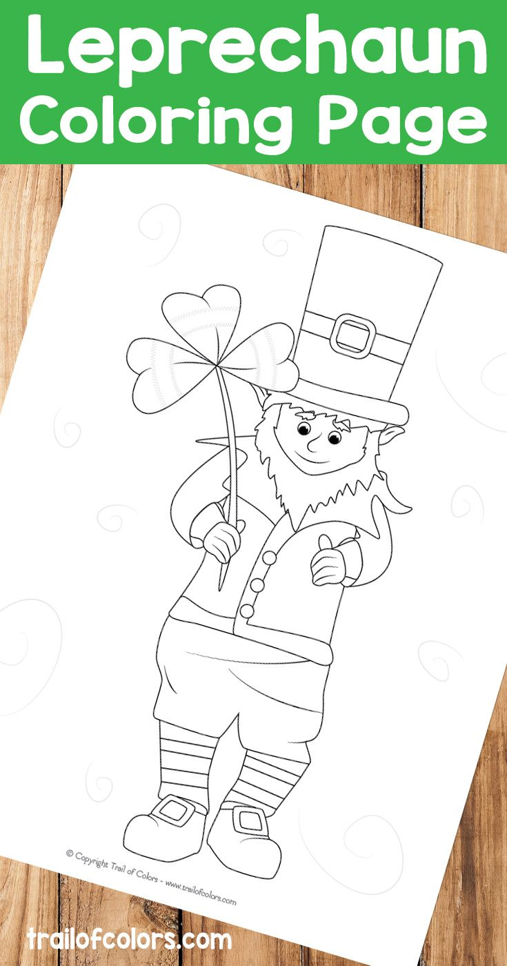 Co coloring book page leprechaun - Adorable Leprechaun Coloring Page For Kids