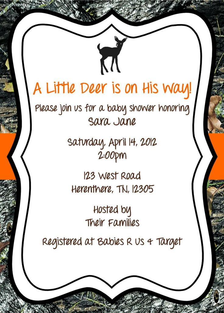 7 best baby shower invites images on pinterest camo baby showers mossy oak baby shower invitation deer 1200 via etsy filmwisefo
