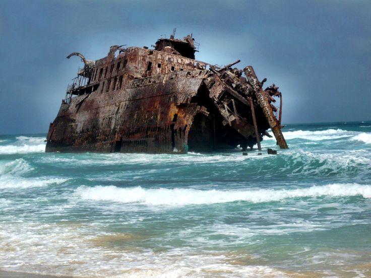 Wreek at Santa Maria Beach, Boavista (Cape Verde)