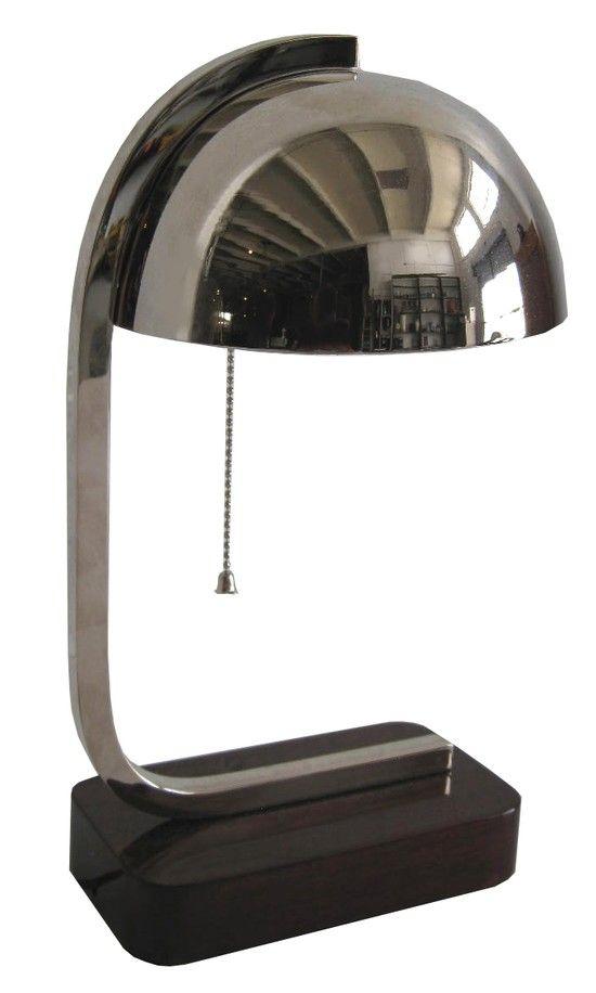 american art deco streamline desk lamp delights pinterest. Black Bedroom Furniture Sets. Home Design Ideas