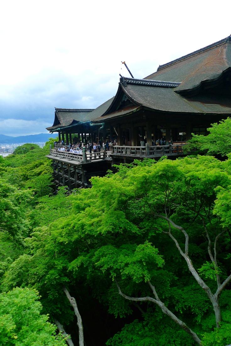 Kiyomizu Temple, Kyoto, Japan. Fresh air was all around...