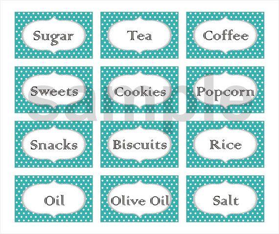 Polka Dot Custom Printable Labels (Set of 12 ) $3.25