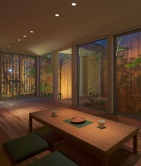 Just like a Sonoran style house this Japanese home has an internal focus with almost no exterior windows