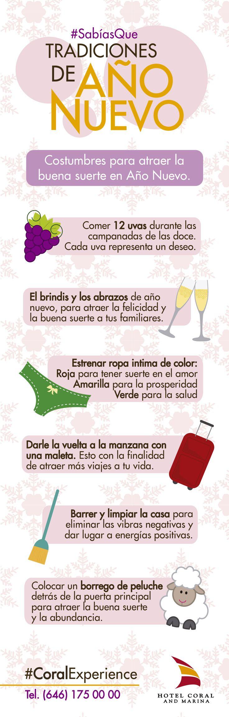 Te mostramos las tradiciones mas populares para atraer la buena suerte durante el año nuevo. Visita #Ensenada, vive #CoralExperience.