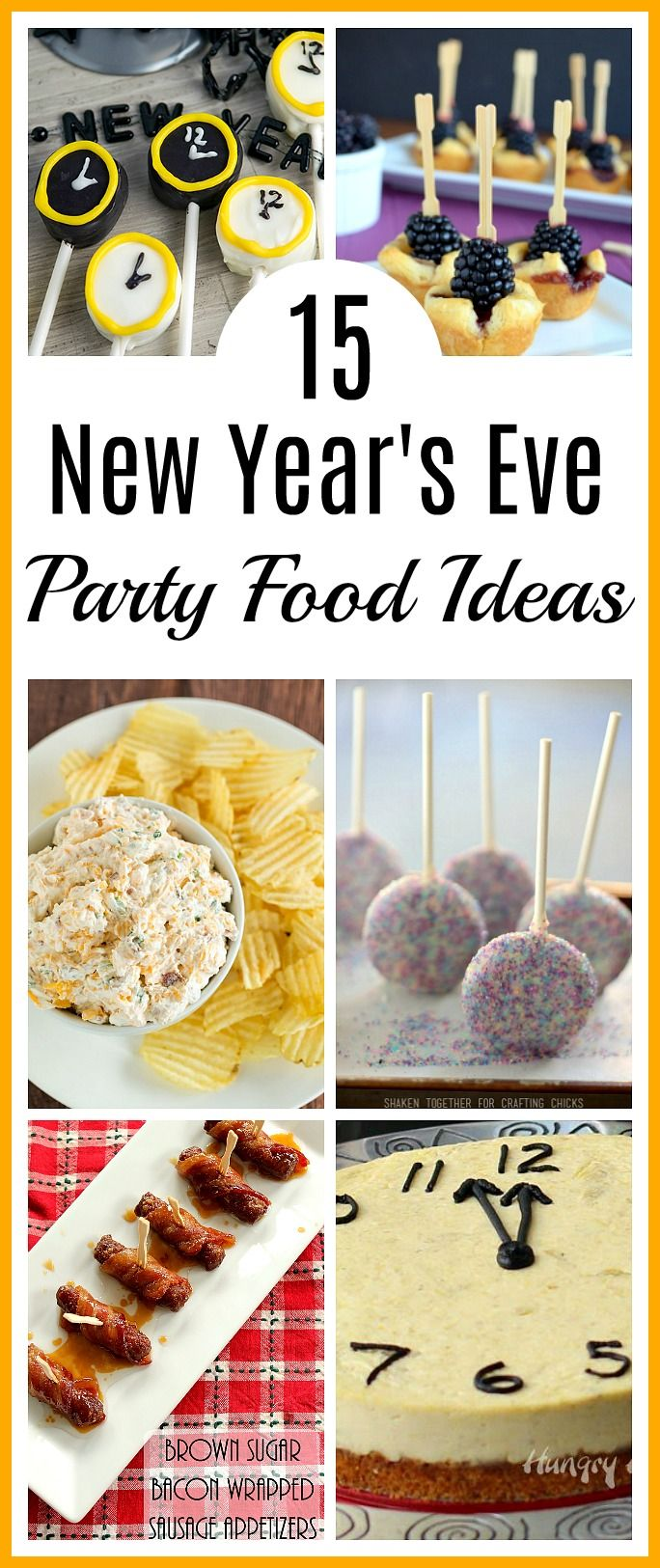 15 New Year's Eve Party Food Ideas- Bring in the New Year the tasty way with these 15 delicious New Year's Eve party food ideas! You and your guests will love these recipes! #NewYearsEve #recipe #appetizer #partyFood