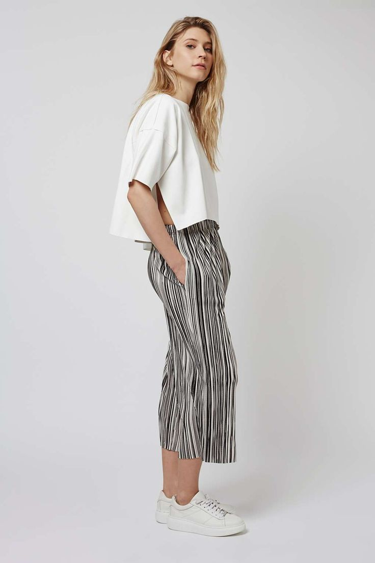 PETITE Stripe Pleat Trousers - Trousers & Leggings - Clothing - Topshop